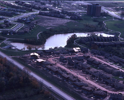 View of Lake Wabukayne in the late 1970's Looking South