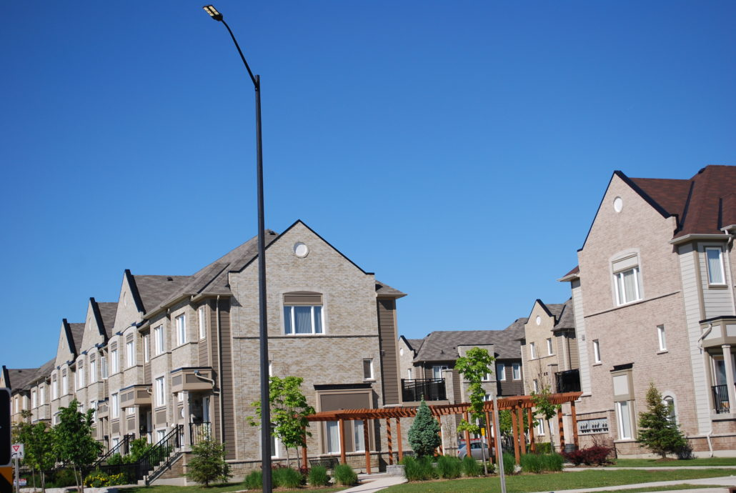 Stacked town houses in Central Erin Mills