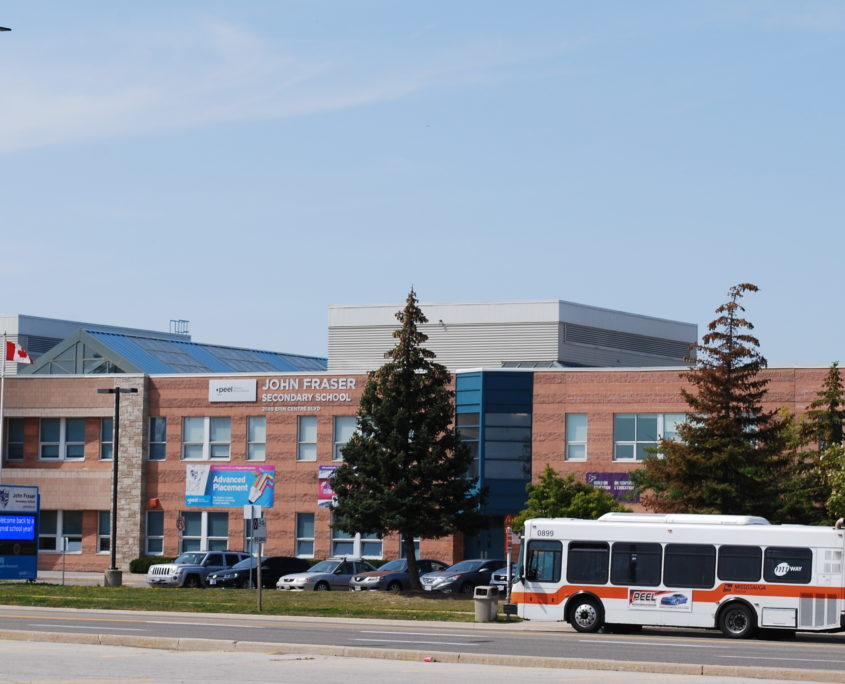 picture of John Fraser Secondary School one of the top high schools in Mississauga