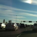Traffic jam in Mississauga