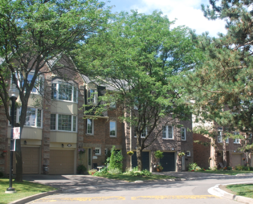Town houses on Pheasant Run, Erin Mills, Mississauga