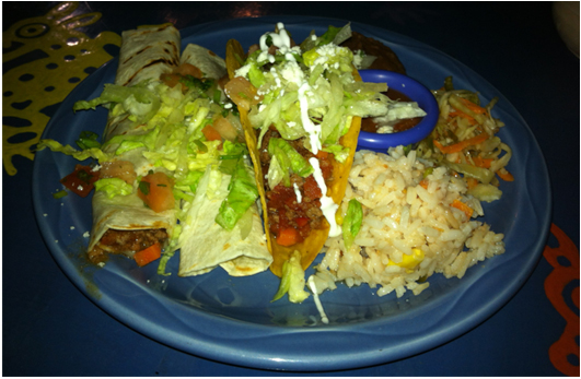 Try the Tacos Cantina Mexicana, I recommend the beef or chorizo