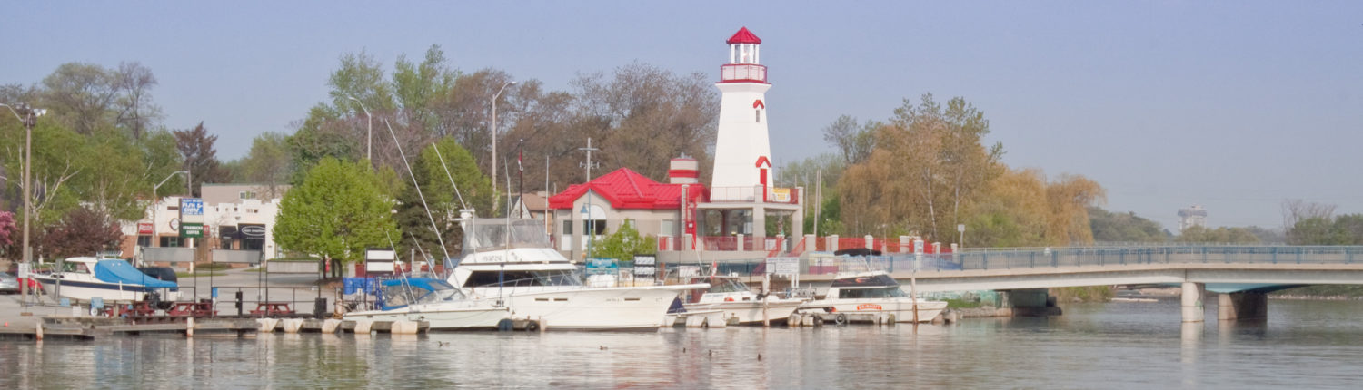 a view of Port Credit harbour in Mississauga