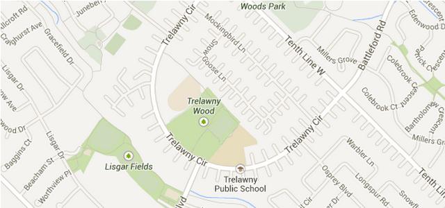 Map of Trelawny Woods
