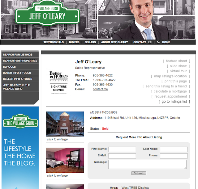 Sold by Jeff O'Leary, The Village Guru, Better Homes and Gardens Real Estate Signature Service