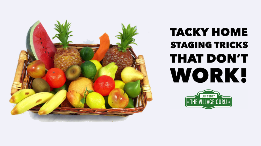 tacky home staging tricks that don't work