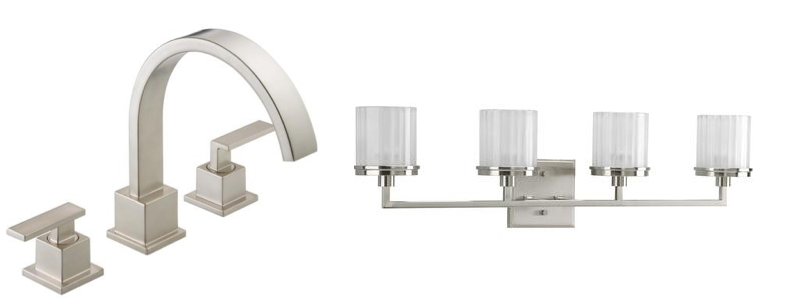 Updating your lighting and fixtures can go a long way to giving your bathroom a modern feel