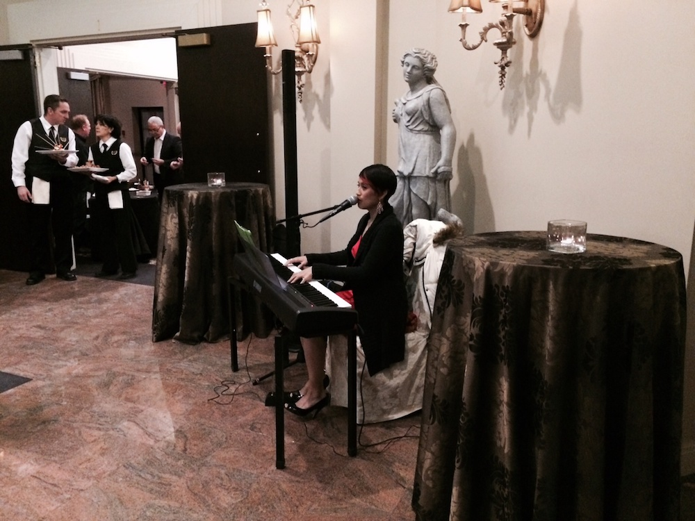 Guests were greeted by a very talented piano player
