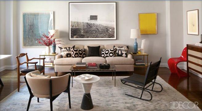 Interior Designer Tamzin Greenhill's Manhattan apartment featured in ELLE DÉCOR