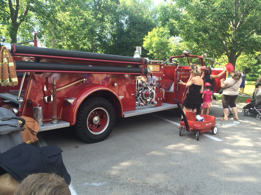 The historic fire truck was a hit with kids