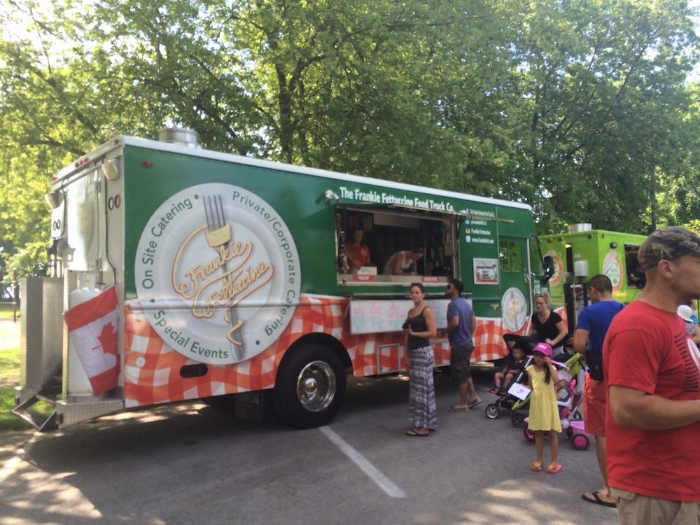 Food trucks at Coronation park in Oakville