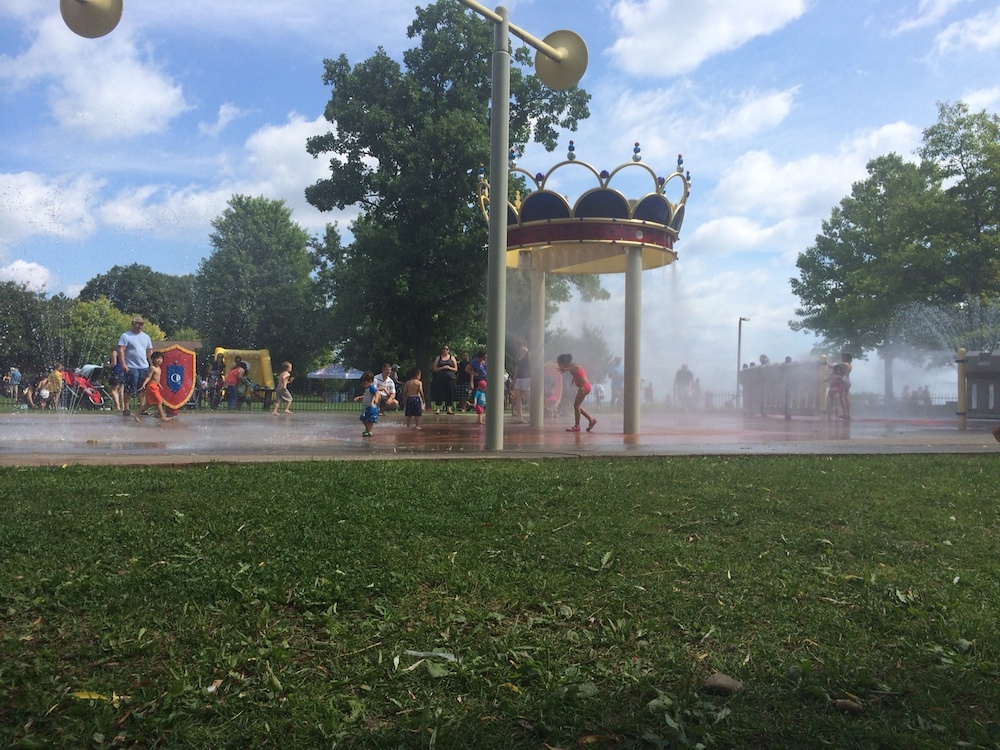 The splash pad was the perfect refresher on a hot sunny day