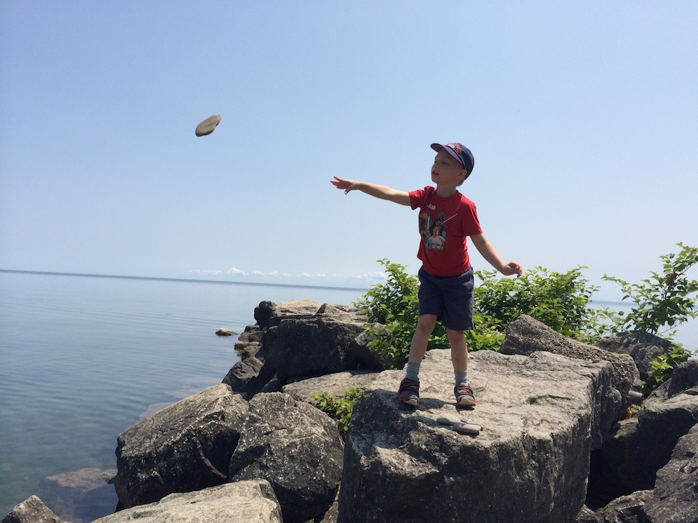 Who doesn't like throwing rocks in the lake??