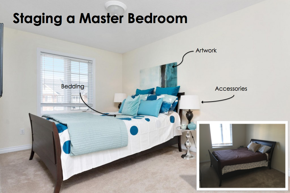 The home staging in the room is included for our clients at no additional cost.
