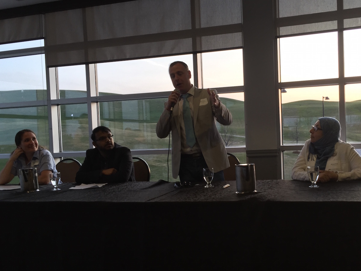 Here I am speaking on a panel about the Lake Wabukayne Stewardship Committee.