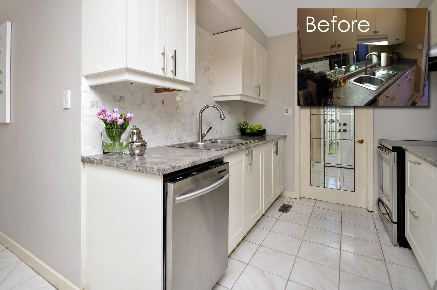 a kitchen case study before and after