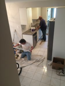 erin mills kitchen remodel in progress 1