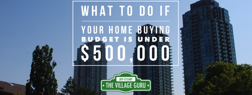 Article giving advice on what to do to buy a house under $500,000