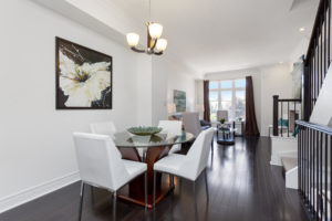 Burnhamthorpe Mississauga Dining Room After Staging a New Home