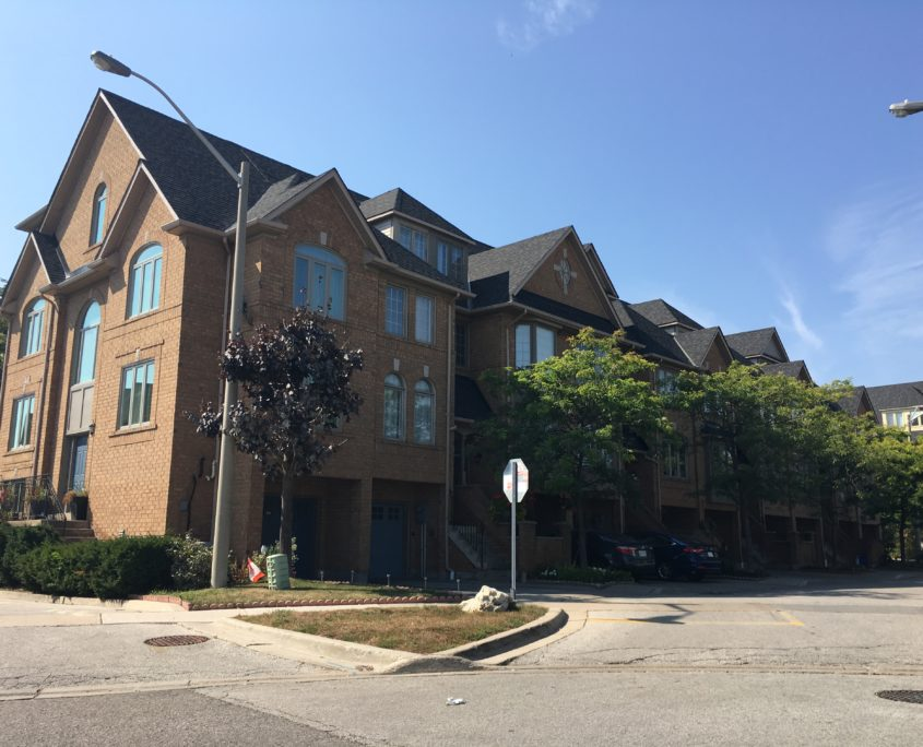 Newer town house complex in Applewood Mississauga