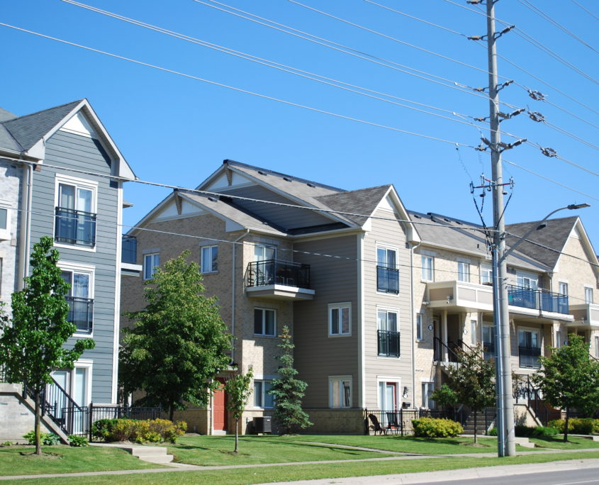 Stacked Town Houses built by Daniels in Churchill Meadows Mississauga