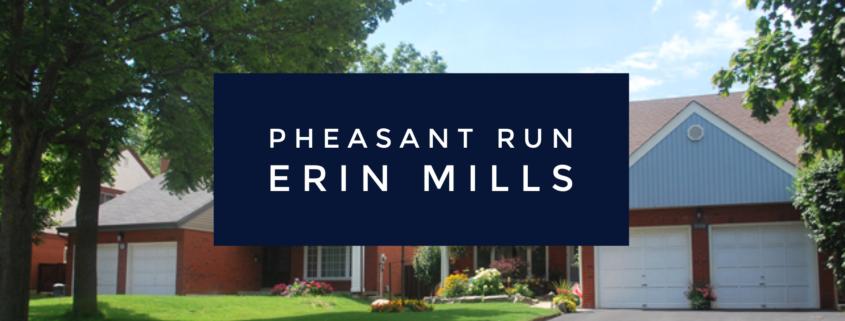 The Community of Pheasant Run in Erin Mills