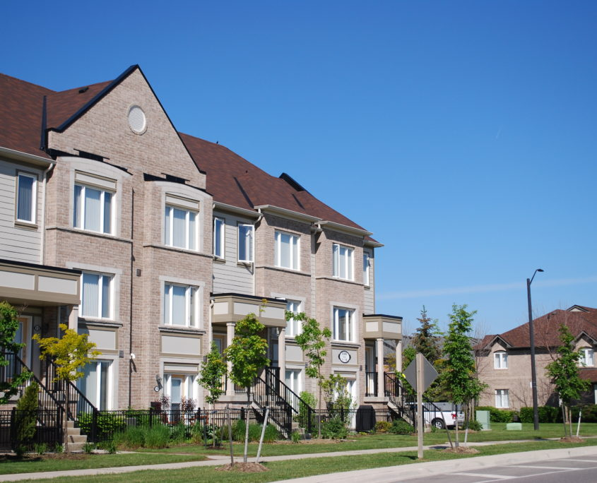 Stached town houses in Central erin mills