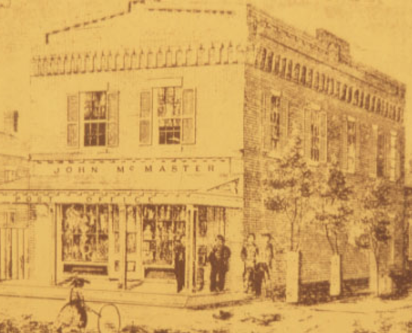 Historic picture of a building in streetsville