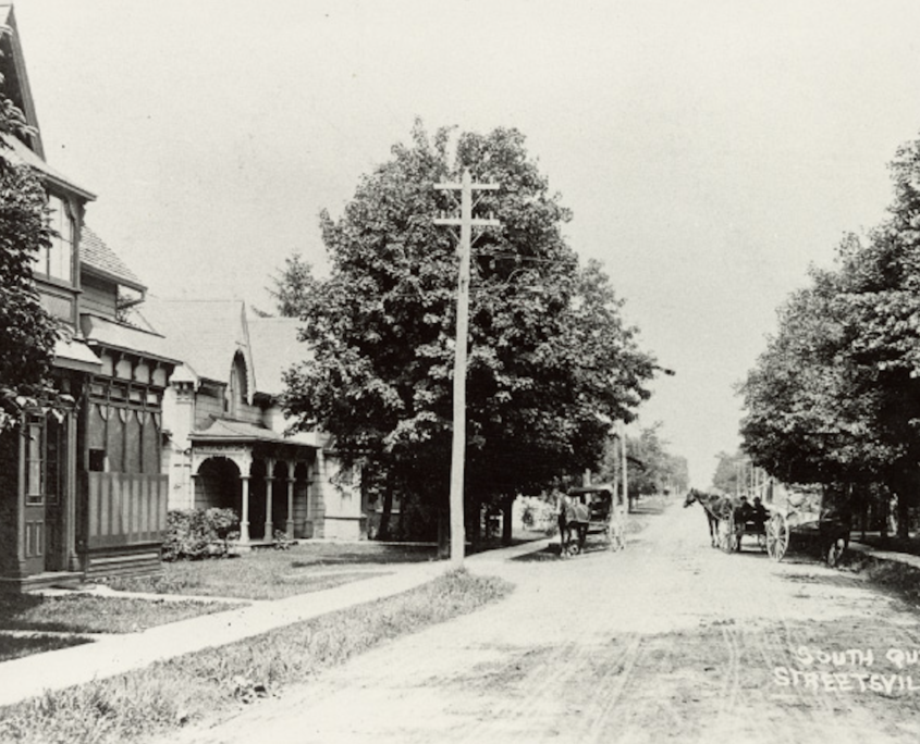 Queen st south streetsville historic picture