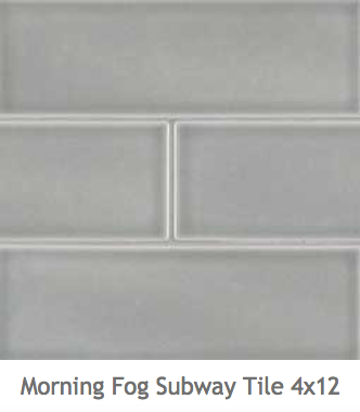 White Kitchens Blue Grey Ceramic Subway Mosaic