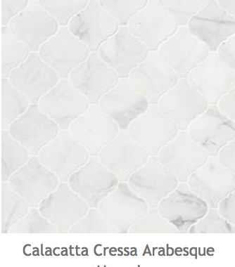 White Kitchens Calacatta Arabesque Mosaic