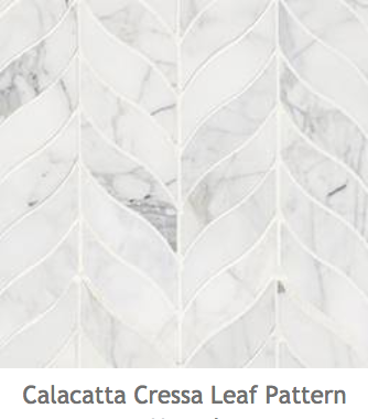White Kitchens Calacatta Cressa Leaf Mosaic