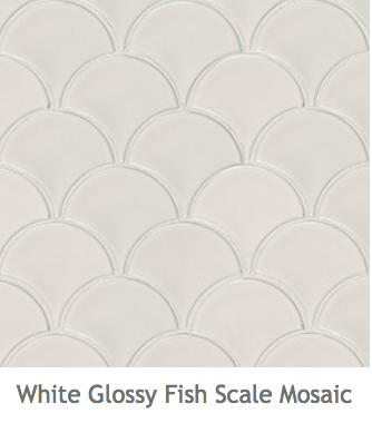 White Kitchens Ceramic Fish Scale Mosaic