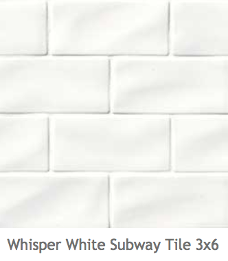 White Kitchens Ceramic Wave Subway