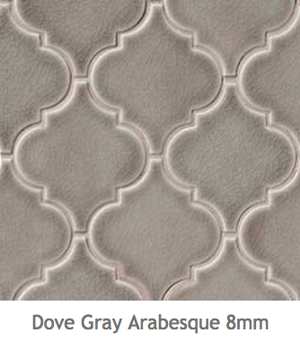 White Kitchens Dove Grey Ceramic Arabesque