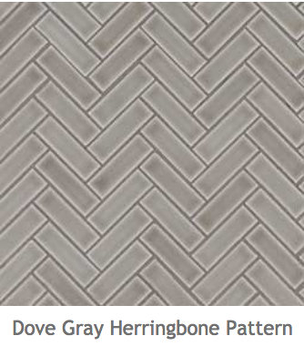 White Kitchens Dove Grey Ceramic Herringbone Mosaic