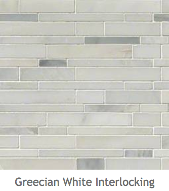White Kitchens Grecian White Interlock Mosaic