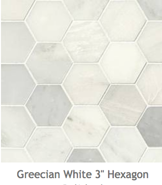 White Kitchens Greecian White Hexagone Mosaic