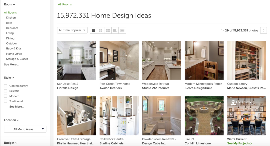 White Kitchens Houzz all time popular images