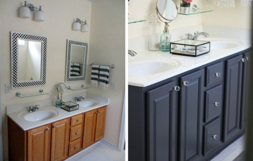 Buy a Big House painted bathroom cabinets