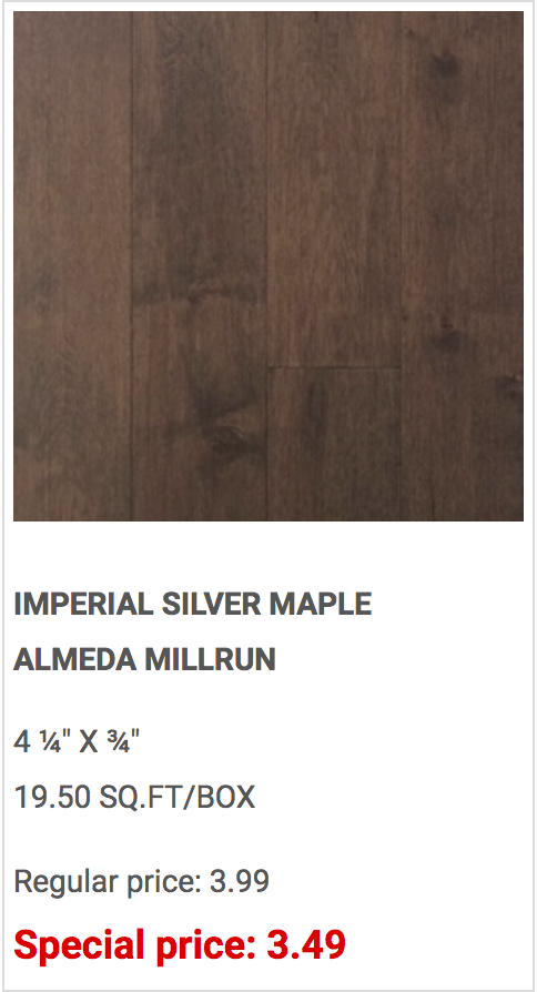Buy a Big House Brampton Hardwood Silver Maple