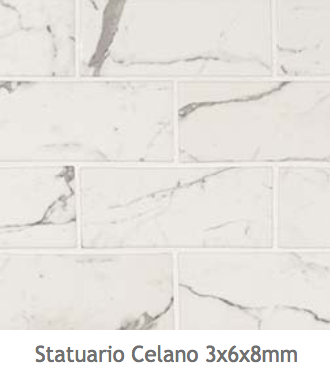 White Kitchens Statuario Celano Subway