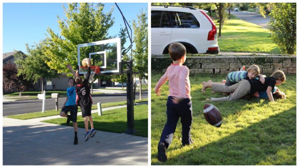 Kids playing best family neighbourhoods