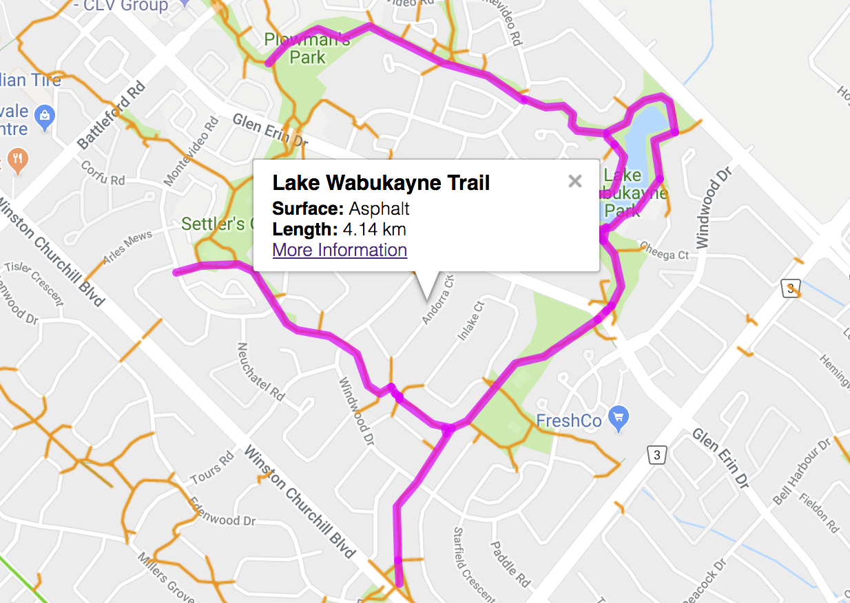 lake Wabukayne Paths Cobbinshaw Circle