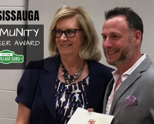 mississauga community volunteer award presented to jeff o'leary